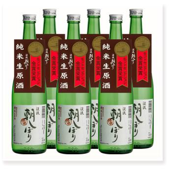 朝しぼり 純米酒 720ml×6本セット